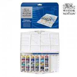 Winsor&Newton - Winsor&Newton Cotman Sulu Boya 24lü Yarım Tablet Painting Plus