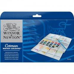 Winsor&Newton - Winsor&Newton Cotman Sulu Boya 24lü Yarım Tablet Painting Plus (1)