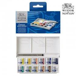 Winsor&Newton - Winsor&Newton Cotman Sketchers Sulu Boya Cep Tipi 12 Renk - 1/2 Tablet