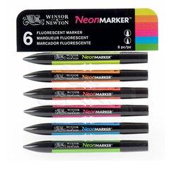 Winsor&Newton - Winsor&Newton Neonmarker 6lı Set 4827C