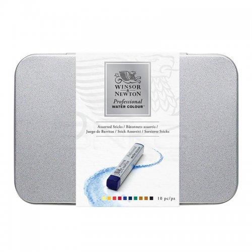 Winsor&Newton Professional Water Colour Stick Metal Kutu 10lu