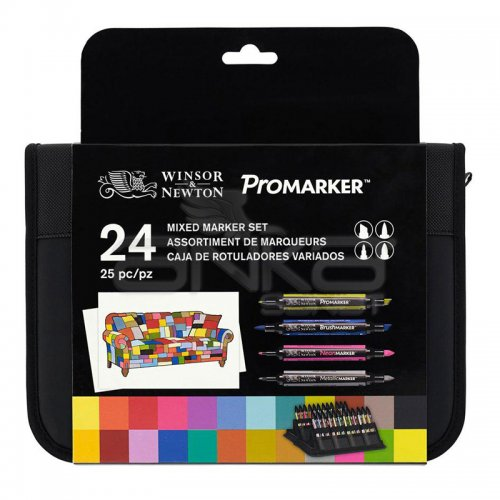 Winsor&Newton Promarker 24lü Mixed Set