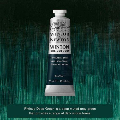 Winsor&Newton Winton Yağlı Boya 37ml 048 Phthalo Deep Green - 048 Phthalo Deep Green