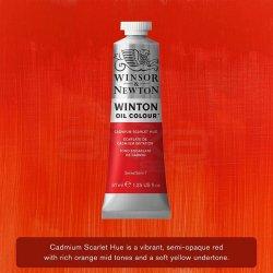 Winsor&Newton - Winsor&Newton Winton Yağlı Boya 37ml 107 Cadmium Scarlet Hue