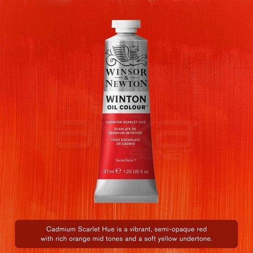 Winsor&Newton Winton Yağlı Boya 37ml 107 Cadmium Scarlet Hue