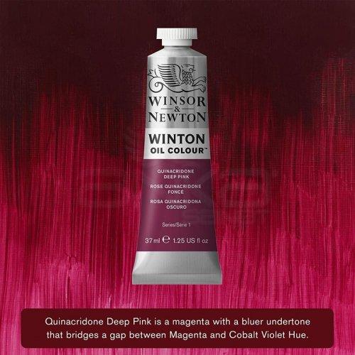 Winsor&Newton Winton Yağlı Boya 37ml 250 Quinacridone Deep Pink - 250 Quinacridone Deep Pink