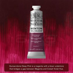 Winsor&Newton - Winsor&Newton Winton Yağlı Boya 37ml 250 Quinacridone Deep Pink