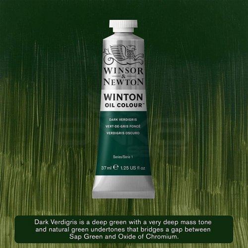 Winsor&Newton Winton Yağlı Boya 37ml 405 Dark Verdigris - 405 Dark Verdigris