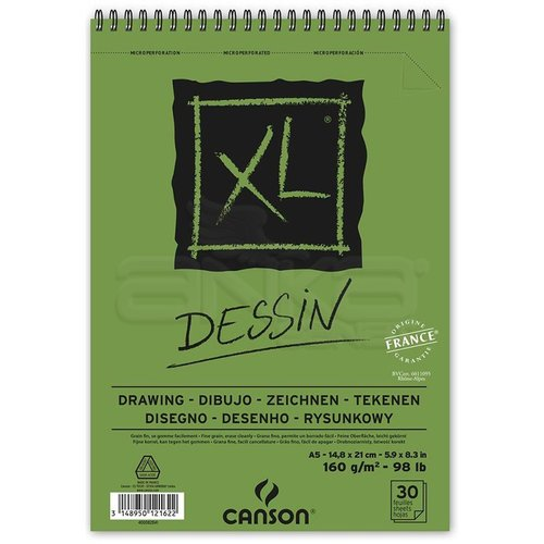 Canson XL Dessin Albüm Spiralli Light Grain 160g 50 Yaprak