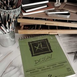 Canson XL Dessin Albüm Spiralli Light Grain 160g 50 Yaprak - Thumbnail