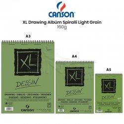 Canson XL Dessin Albüm Spiralli Light Grain 160g - Thumbnail