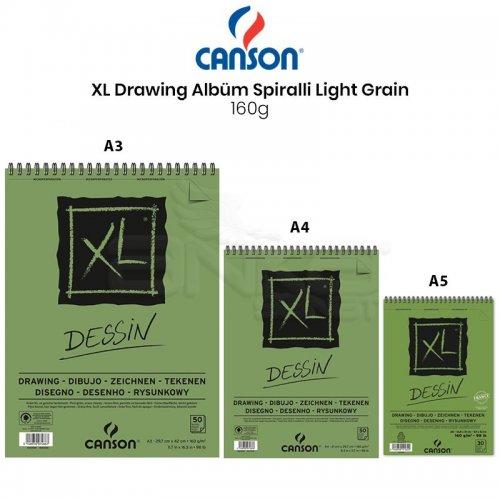 Canson XL Dessin Albüm Spiralli Light Grain 160g