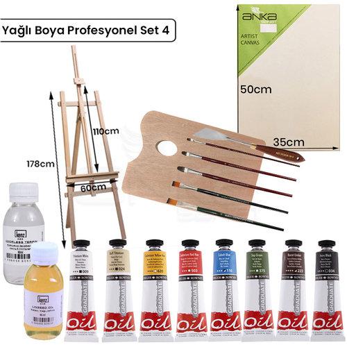 Yağlı Boya Profesyonel Set 4 YP-4