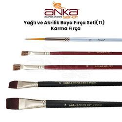 Anka Art - Yağlı ve Akrilik Boya Fırça Seti (11) Karma Fırça