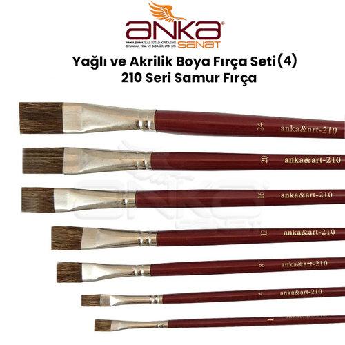 Yağlı ve Akrilik Boya Fırça Seti (4) 210 Seri Samur Fırça