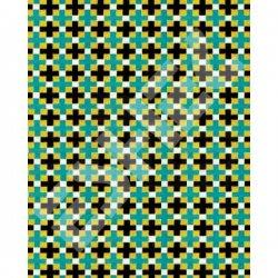 Eshel - Eshel Yeşil-Siyah Kiremit Desenli Karton Duvar 1/100 Paket İçi:3 (1)