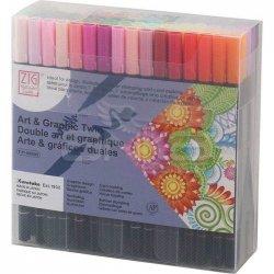 Zig - Zig Art & Graphic Twin Brush Pen Çift Uçlu Çizim Kalemi 80li Set TUT-80/80V