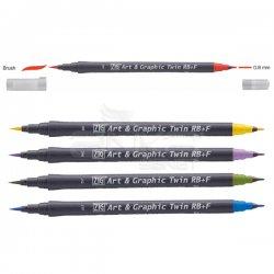 Zig - Zig Art&Graphic Twin RB+F Çift Uçlu Çizim Kalemi