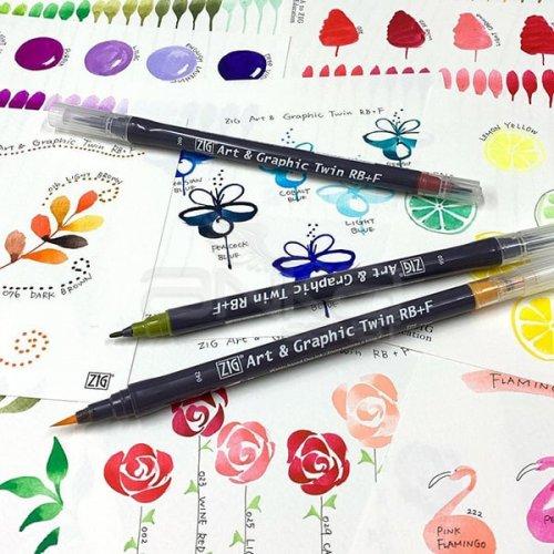 Zig Art&Graphic Twin RB+F Çift Uçlu Çizim Kalemi