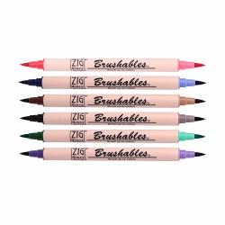Zig - Zig Brushables Çift Renk Tonu Fırça Uçlu Marker Kalem