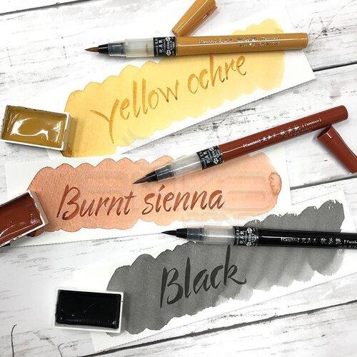 Zig Cambio Tambien Medium Brush Tip Fırça Uçlu Kalem 6lı Set