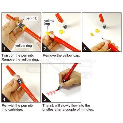 Zig Cambio Tambien Medium Brush Tip Fırça Uçlu Kalem