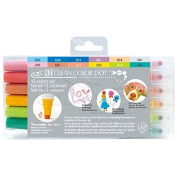 Zig - Zig Clean Color Dot Çift Uçlu Marker Kalem 12li Set