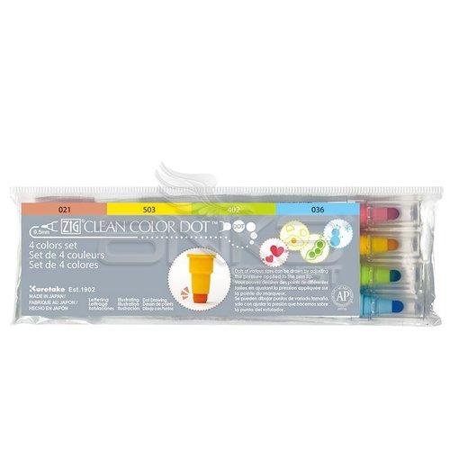 Zig Clean Color Dot Çift Uçlu Marker Kalem 4lü Set