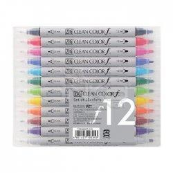 Zig - Zig Clean Color f Çift Uçlu Marker Kalem 12li Set