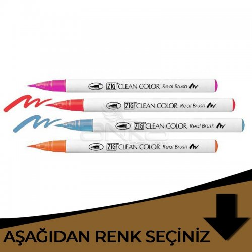 Zig Clean Color Real Brush Fırça Uçlu Marker Kalem Kahverengi Tonlar