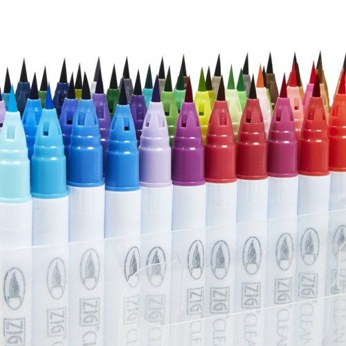 Zig Clean Color Real Brush Fırça Uçlu Marker Kalem 24lü Set