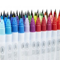 Zig - Zig Clean Color Real Brush Fırça Uçlu Marker Kalem 48li Set (1)