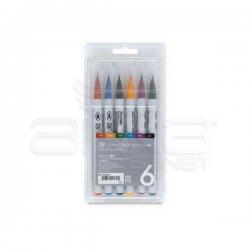 Zig - Zig Clean Color Real Brush Fırça Uçlu Marker Kalem 6lı Set