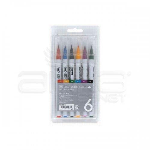 Zig Clean Color Real Brush Fırça Uçlu Marker Kalem 6lı Set