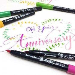 Zig - Zig Fudebiyori Brush Pen Yaldızlı 12li (1)