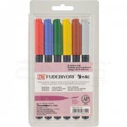 Zig Fudebiyori Brush Pen Yaldızlı 6lı - Thumbnail