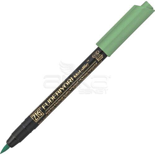 Zig Fudebiyori Brush Pen Yaldızlı 040 Green