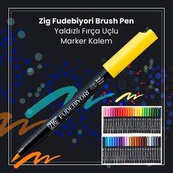 Zig - Zig Fudebiyori Brush Pen Yaldızlı Fırça Uçlu Marker Kalem (1)