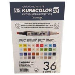 Zig - Zig Kurecolor Twin Karışık Renkler 36lı Marker Set (1)