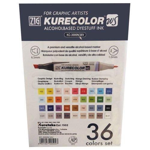 Zig Kurecolor Twin Karışık Renkler 36lı Marker Set
