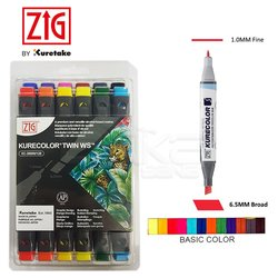 Zig - Zig Kurecolor Twin WS Marker KC3000N 12li Set 12B1 (1)