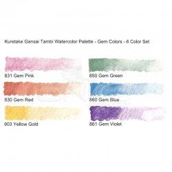 Zig - Zig Kuretake Gansai Tambi Sulu Boya Seti 6lı Gem Colors (1)