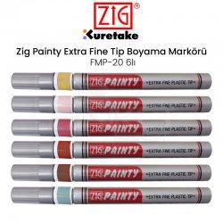 Zig - Zig Painty Extra Fine Tip Boyama Markörü FMP-20 6lı
