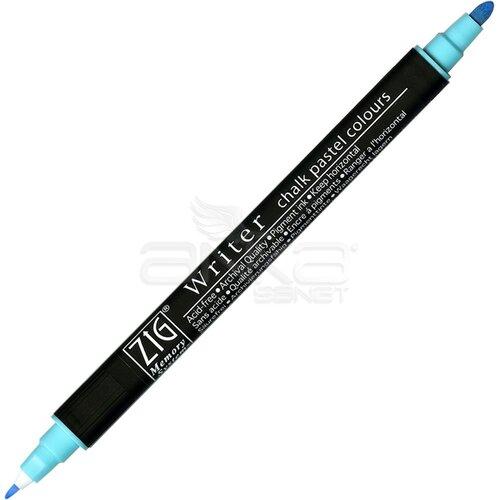 Zig Writer Chalk Pastel Colours Çift Uçlu Marker Kalem 0.5mm & 1.2mm Blue - Blue